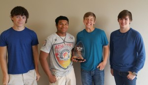 1st place Web Design- (left to right) Jake Jonas, Ethan Chambers, Trey Foyt, Tracer Collins